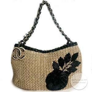 Chanel Coco Country Camellia Bag Woven Straw 2010